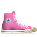 Converse, Dirty, Rose Icon