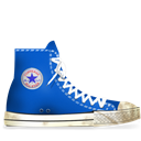 Blue, Converse, Dirty, Light Icon