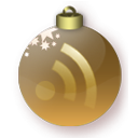 Christmas, Feed, Gold Icon