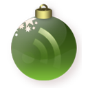 Christmas, Feed, Green Icon
