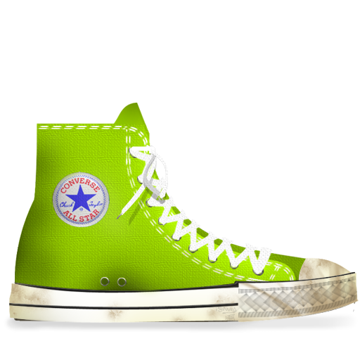 Converse, Dirty, Lime Icon