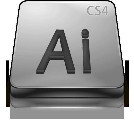 Adobe, Cs, Gray, Illustrator Icon