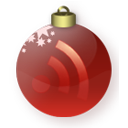 Christmas, Feed, Red Icon
