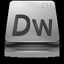 Adobe, Cs, Dreamweaver, Gray Icon