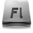 Adobe, Cs, Flash, Gray Icon