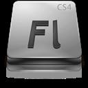 Adobe, Cs, Flash, Gray Icon