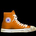 Converse, Dirty, Orange Icon
