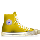 Converse, Dirty, Yellow Icon