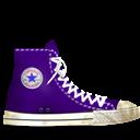 Converse, Dirty, Lila Icon
