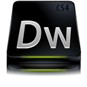 Adobe, Black, Cs, Dreamweaver Icon
