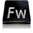 Adobe, Black, Cs, Fireworks Icon