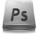 Adobe, Cs, Gray, Photoshop Icon