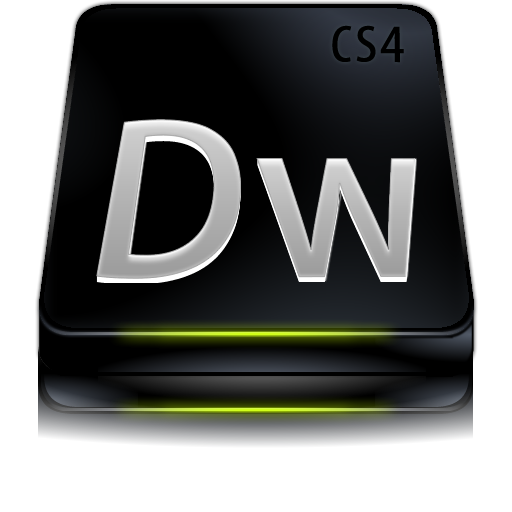 Adobe, Black, Cs, Dreamweaver Icon
