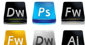 Adobe Web Suite CS 4 Icons
