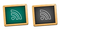 Black Board Feed Icons