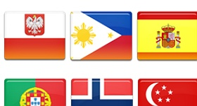 10 Country Flags Icons
