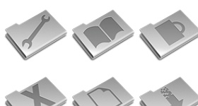 Pry Etched Aluminium Icons