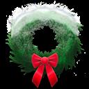 Holiday, Snowy, Wreath Icon