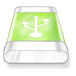 Drive, Green, Usb Icon