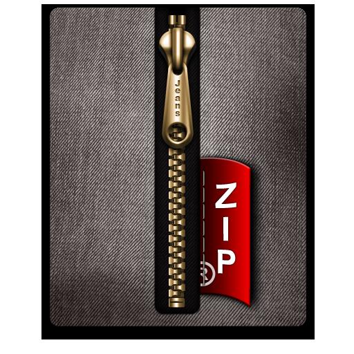 Black, Gold, Zip Icon