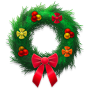 Festive, Holiday, Wreath Icon