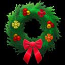 Festive, Holiday, Wreath Icon