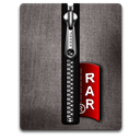 Black, Rar, Silver Icon