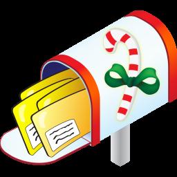 Christmas, Mailbox Icon