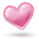 Heart, Pink Icon