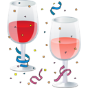 New, Party, Year Icon