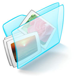 Blue, Dossier, Pictures Icon