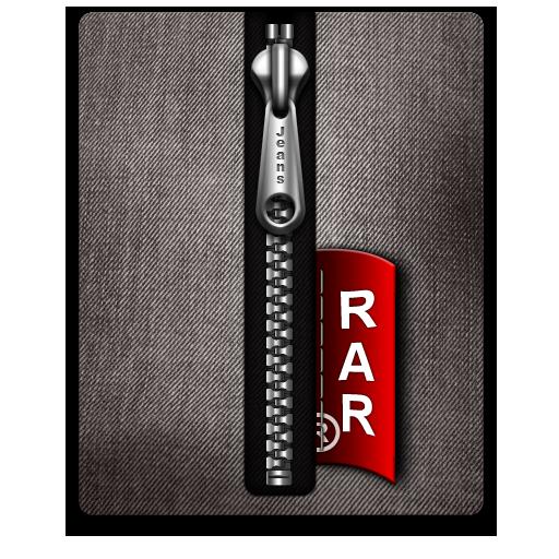 Black, Rar, Silver Icon