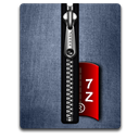 7z, Blue, Silver Icon