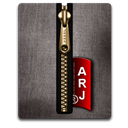 Arj, Black, Gold Icon