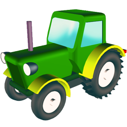 Tractor, Wheeled Icon