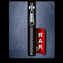 Blue, Rar, Silver Icon