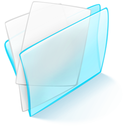 Blue, Dossier, Papier Icon