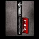 Black, Silver, Tar Icon