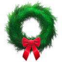 Holiday, Wreath Icon
