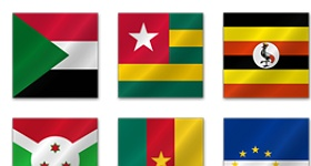 African Flags Icons