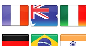 Country Flags Set 2 Icons