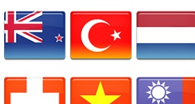 Country Flags Set 3 Icons