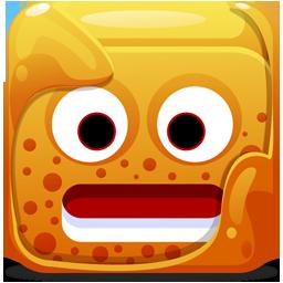 Block, Orange Icon