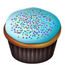 Blue, Cupcakes Icon