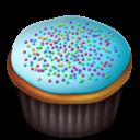 Blue, Cupcakes Icon