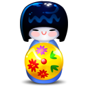 Blue, Kokeshi Icon