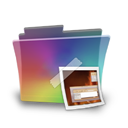 Folder, Picture, Rainbow Icon