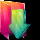 Aurora, Downloads, Folders, Icontexto Icon