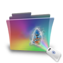 Folder, Movie, Rainbow Icon