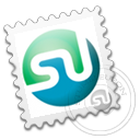 Grey, Stamp, Stumbleupon Icon